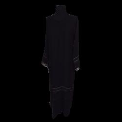 Womens Long Fancy bottom net sleeved Abaya