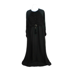 Women's Long Plated Embellished Top Abaya