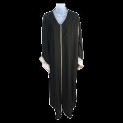 Women's TMS Long Crocheted Sleeved Abaya