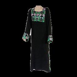 Womens Handmade Long Floral Printed Dress
