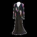 Womens TMS Long Printed Baggy Sleeved Abaya