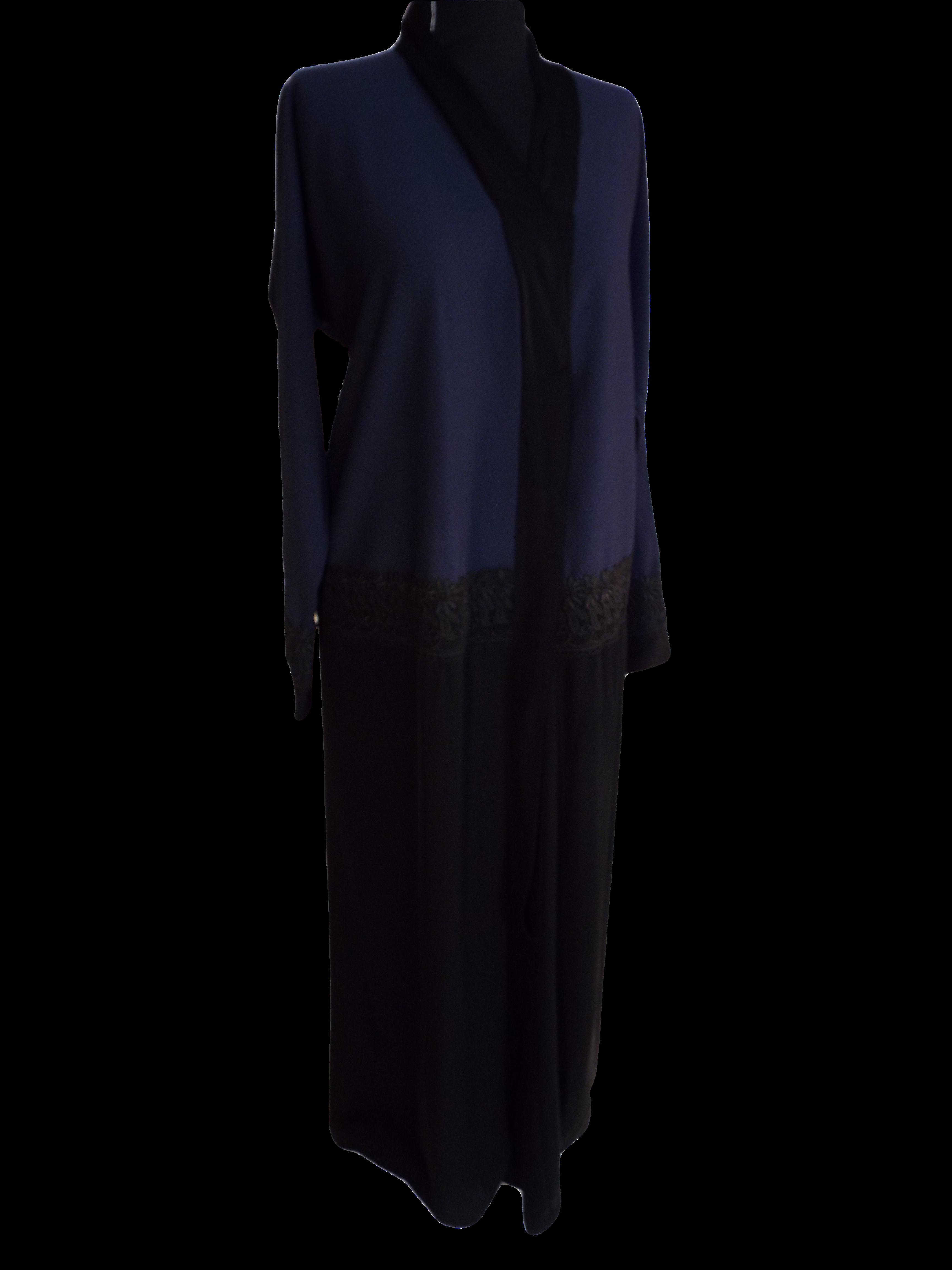 Womens Long mid crocheted Abaya